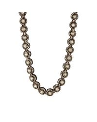 Munnu | Metallic Single Line White Diamond Necklace | Lyst