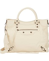 Balenciaga | Natural Arena Leather Classic Velo Bag | Lyst