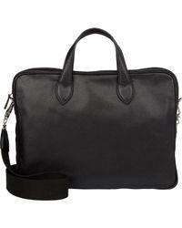 Barneys New York - Black Men's Double-handle Briefcase for Men - Lyst