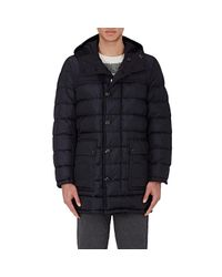 Moncler - Black Down Weber Coat for Men - Lyst