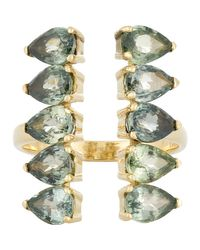 Ileana Makri | Multicolor Gemstone Deco Column Ring | Lyst