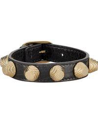 Balenciaga   Gray Arena Giant Stud Bracelet   Lyst