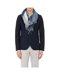 Colombo - Blue Men's Plaid Ombre Scarf for Men - Lyst