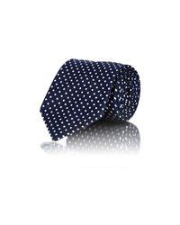 Ermenegildo Zegna - Black Men's Micro-diamond-pattern Necktie for Men - Lyst