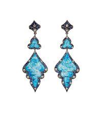 Sevan Biçakci - Metallic Women's Seascape Double-drop Earrings - Lyst