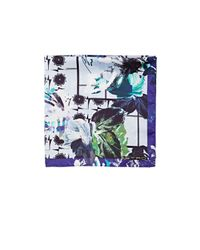 Etro - Blue Floral & Geometric Pocket Square for Men - Lyst