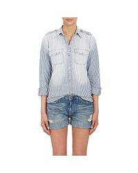 Current/Elliott - Gray Women's Perfect Shirt - Lyst