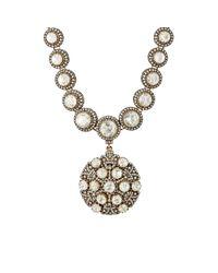 Munnu - Metallic White Diamond Necklace With Removable Pendant - Lyst