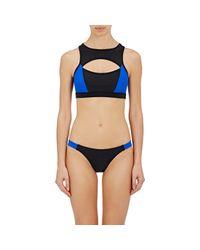 Chromat - Blue Saldana Racerback Bikini Top - Lyst
