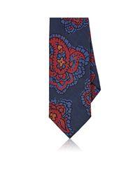 Drake's - Blue Exploded Paisley Silk Necktie for Men - Lyst