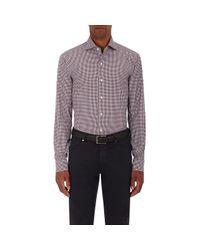 Ermenegildo Zegna - Purple Plaid Cotton-silk Poplin Shirt for Men - Lyst