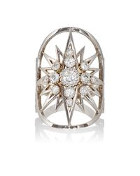 Sara Weinstock - Metallic Starburst Shield Ring - Lyst