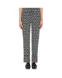 Marni   Green Geometric-print Silk Pajama   Lyst