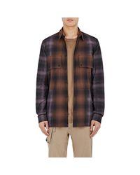 Helmut Lang   Black Checked Cotton Shirt for Men   Lyst