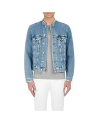 Acne | Blue Distressed Denim Jacket for Men | Lyst