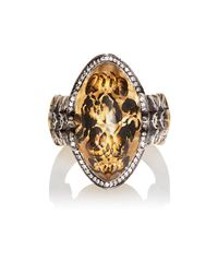 Sevan Biçakci - Brown Butterfly Intaglio Ring - Lyst