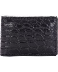 Barneys New York - Black Alligator Money Clip for Men - Lyst
