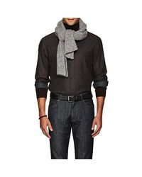 Inis Meáin - Gray Donegal-effect Rib-knit Merino Wool for Men - Lyst