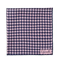 Cifonelli - Blue Houndstooth Silk Twill Pocket Square - Lyst
