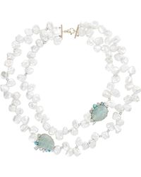 Sharon Khazzam - White Laisa Necklace - Lyst