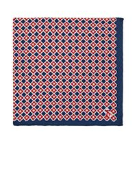Isaia Blue Reversible Silk Pocket Square for men