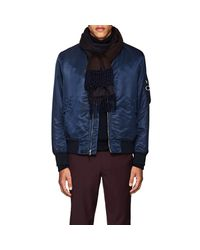 Barneys New York - Blue Cashmere Scarf for Men - Lyst