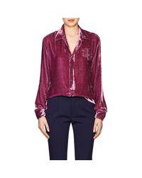 Juan Carlos Obando - Pink Velvet Shirt - Lyst