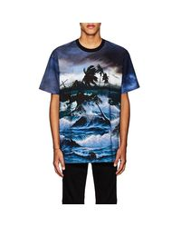 Givenchy - Blue Columbian-fit Hawaii Print T-shirt for Men - Lyst