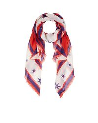 Givenchy - Red Iconic Flash Silk-cashmere-blend Scarf - Lyst