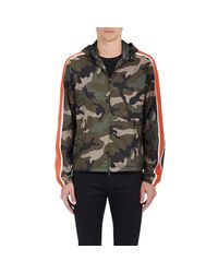 Valentino Multicolor Camouflage Hooded Jacket for men