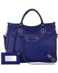 Balenciaga | Blue Metallic Edge Classic Velo | Lyst
