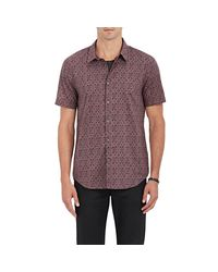 John Varvatos - Purple Floral Cotton Shirt for Men - Lyst