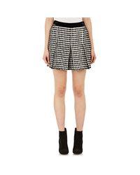 Proenza Schouler | Black Fil Coupé Basket-weave Tweed Shorts | Lyst