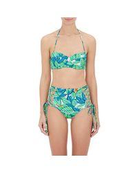 Mara Hoffman - Green Bustier Bandeau Bikini Top - Lyst