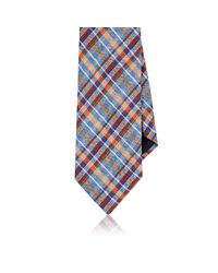 Barneys New York | Blue Plaid Necktie for Men | Lyst