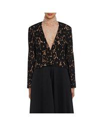 Lanvin | Black Guipure Lace Crop Jacket | Lyst
