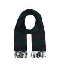 Barneys New York - Black Plaid Wool Scarf for Men - Lyst
