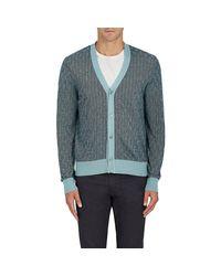 Luciano Barbera | Blue Herringbone & Stripe Linen for Men | Lyst