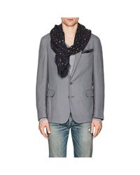 Drake's - Blue Dotted Twill Scarf for Men - Lyst