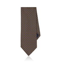 Barneys New York - Orange Geometric-pattern Silk Necktie for Men - Lyst