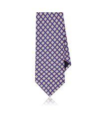 Piattelli - Blue Floral Medallion Silk Foulard Necktie for Men - Lyst