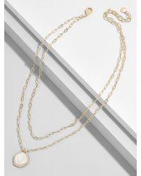 BaubleBar - Metallic Elizandra Resin Pendant Necklace - Lyst