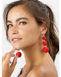 BaubleBar - Red Vivid Crispin Ball Drop Earrings - Lyst