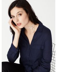 BaubleBar - Blue Blanche Tie Wrap Choker - Lyst
