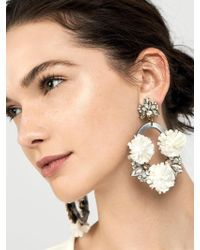BaubleBar - Multicolor Ice Lily Hoop Earrings - Lyst