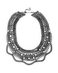 BaubleBar - Metallic Twinkle Chain Bib - Lyst