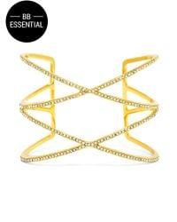 BaubleBar | Metallic Helix Cuff-clear/gold | Lyst