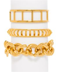 BaubleBar | Metallic Lineup Bracelet Trio | Lyst