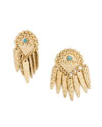 BaubleBar - Metallic Palenque Drops-turquoise/antique Gold - Lyst