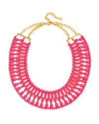 BaubleBar | Pink Riviera Collar Necklace | Lyst